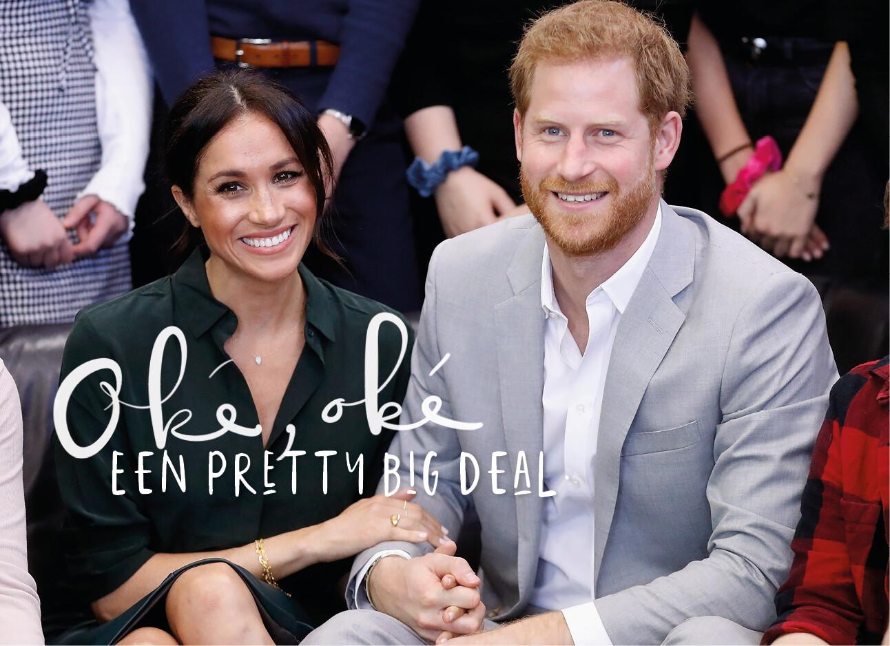 Meghan markle en prins harry lachend