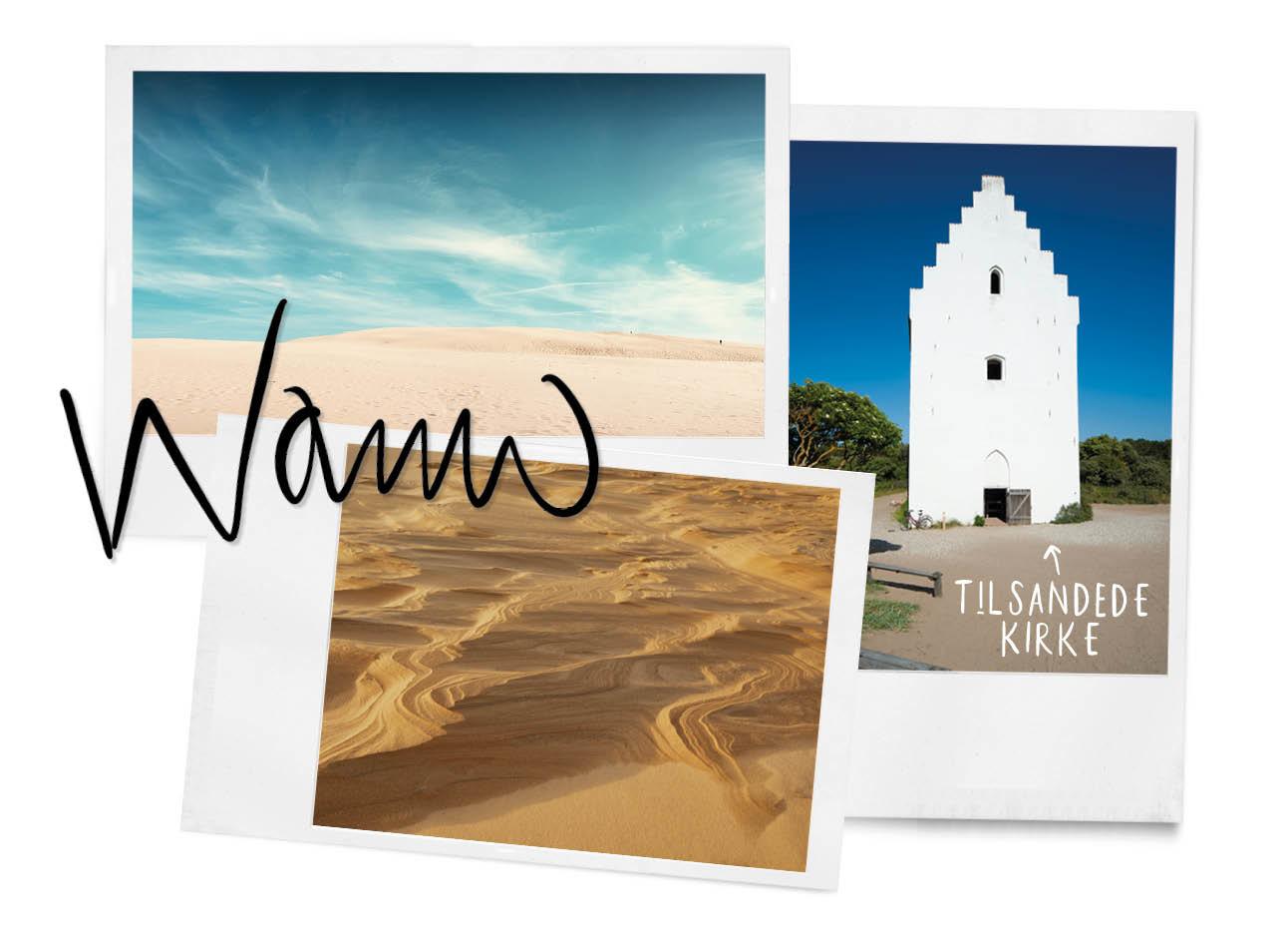 Nyhavn woestijn zand witte oude kerk