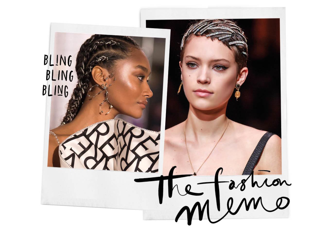 twee vrouwen met sieraden en bling steentjes in haar haar