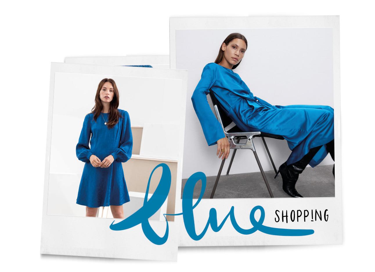 shopping blauwe truien en jurken rokken vrouwen zara H&M