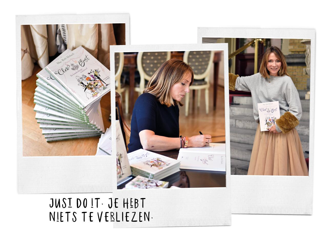 May-Britt Mobach en haar boek Cleo & Bast