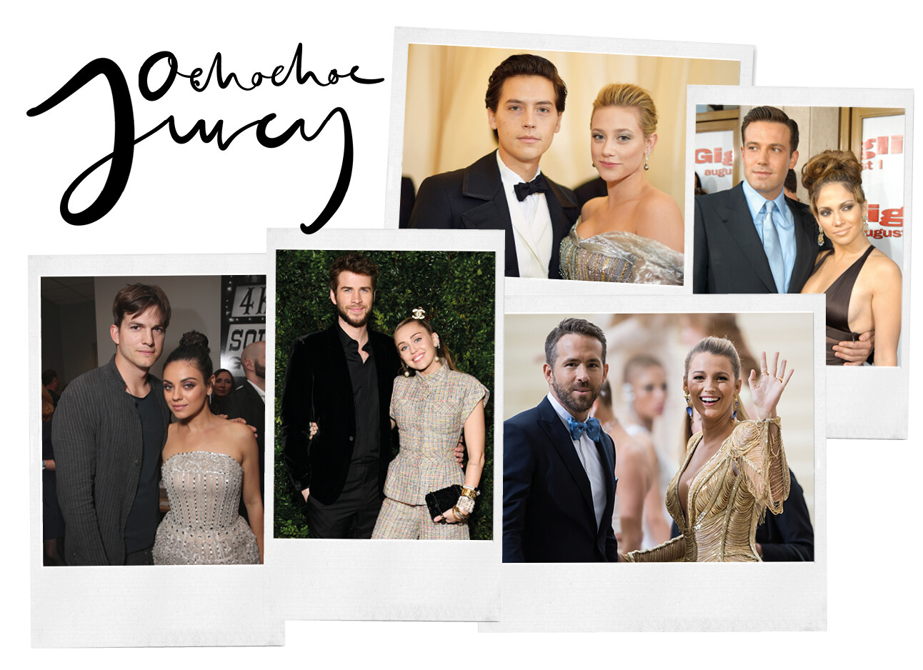 celebrities die er met hun coster vandoor gingen
