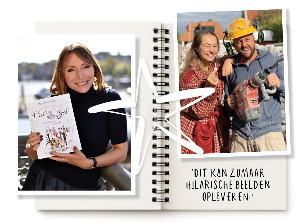 Carolien klust aan haar droomhuis en may-britt Mobach met haar boek
