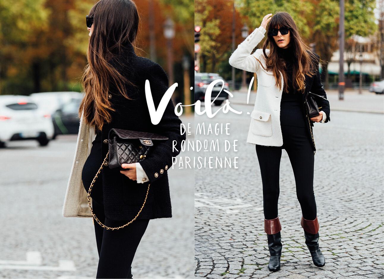 Parisienne druk op straat