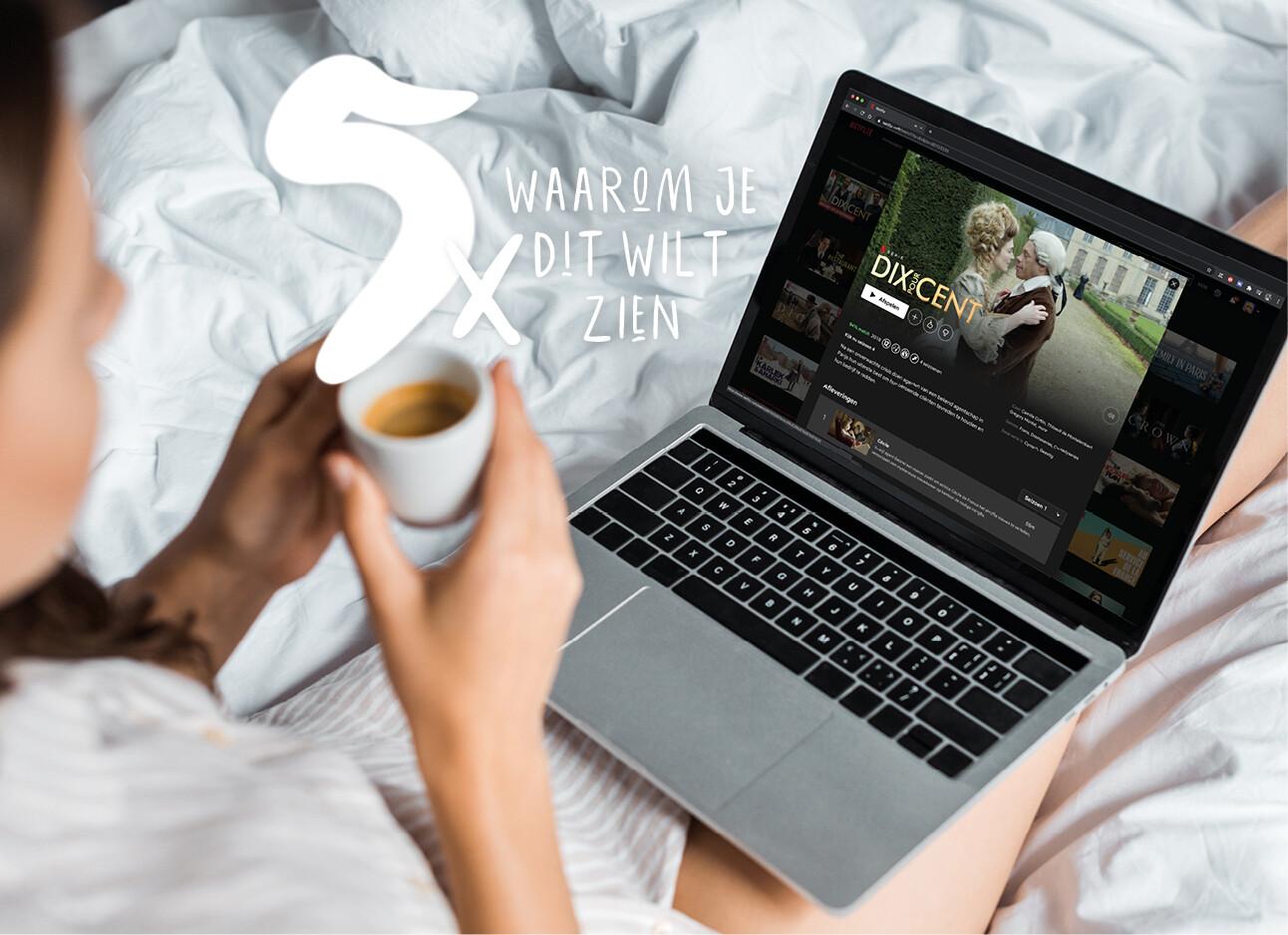 Dix pour cent op laptop