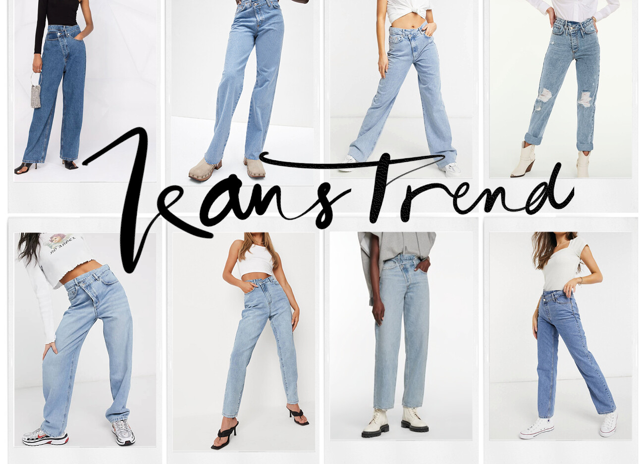 De criss-cross jeans trend