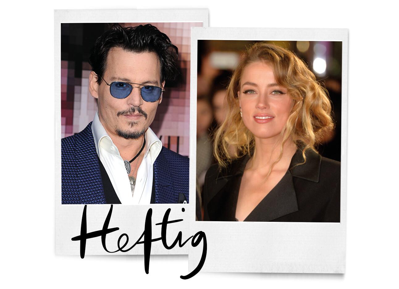 Johnny Depp en Amber Heard