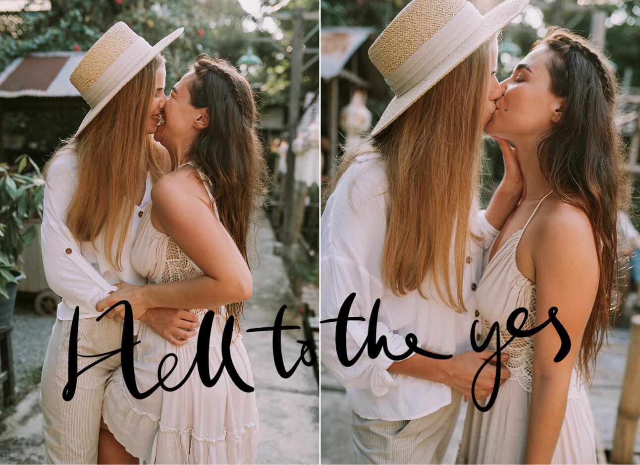 couple kissing in juli