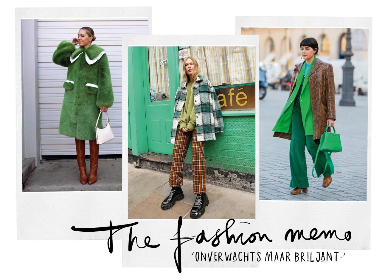 nieuwe fashion trend bruin groen