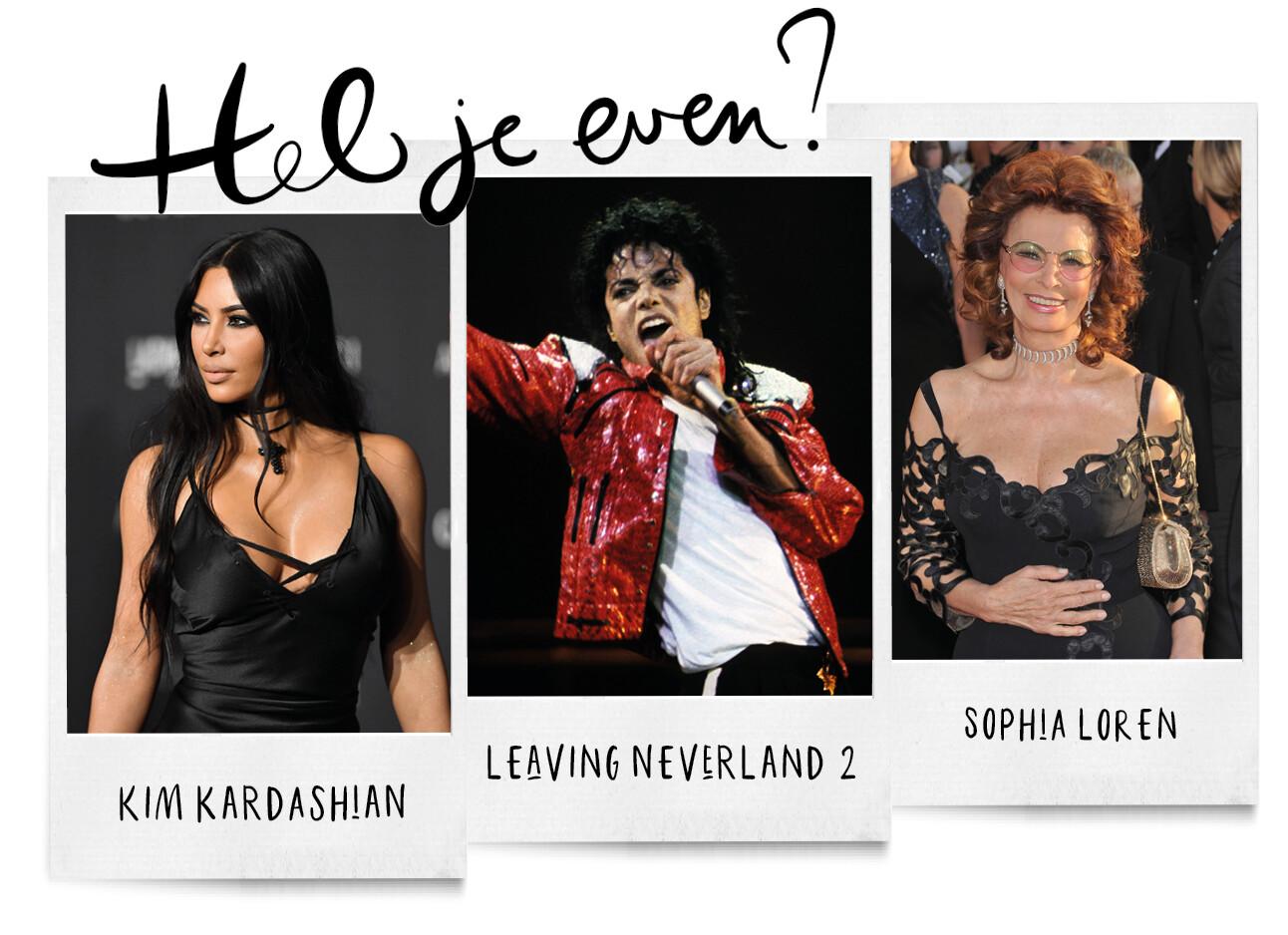 Kim Kardashian, Leaving Neverland en Sophia Loren