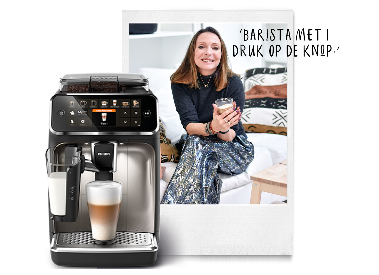 Latte Go van Philips en May-Britt Mobach