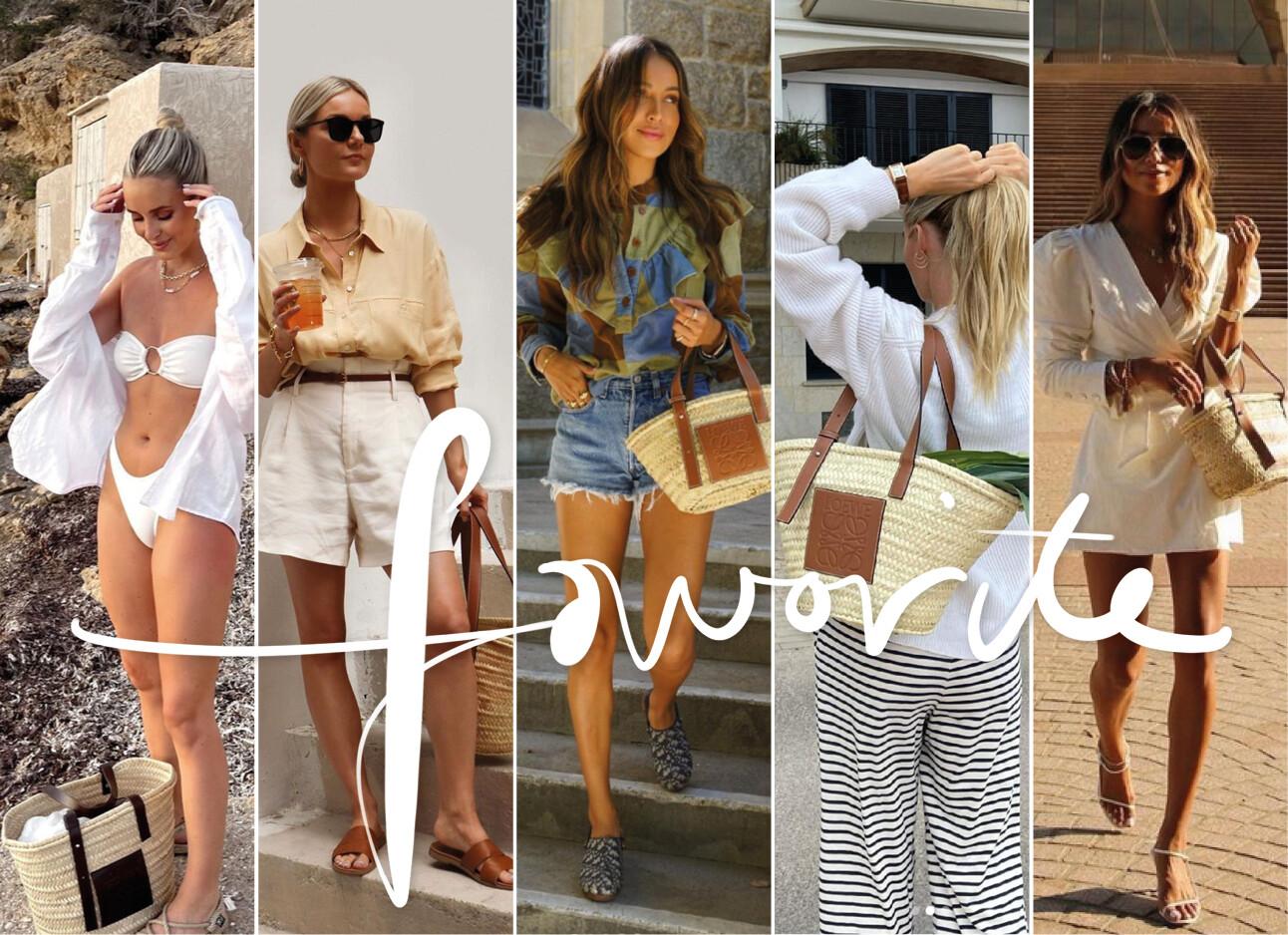 Strandtas trend onder het modevolk