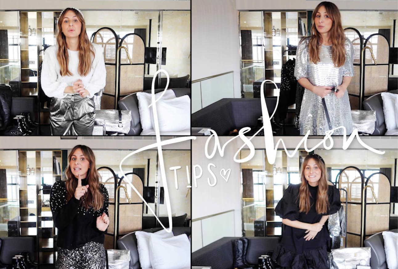 Lilian brijl in meerdere Zara zilvere outfits lachend in de video Whotel