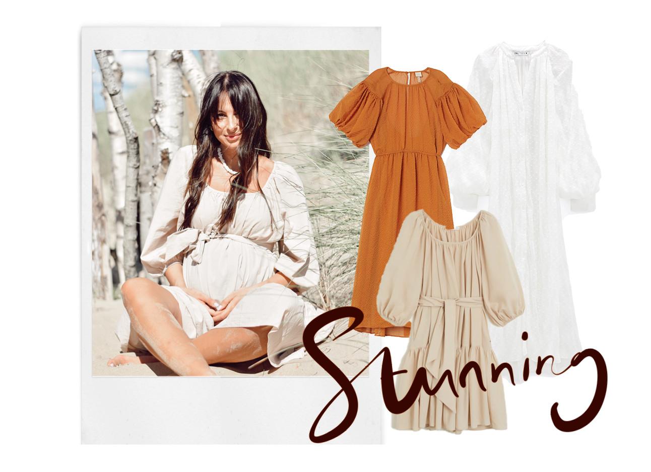 Lilian op het strand met een zomers jurkje