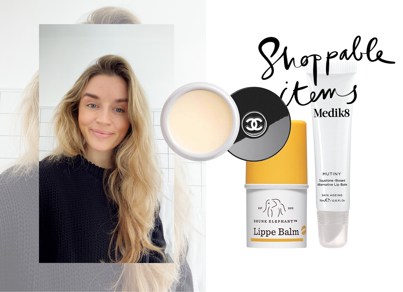 lotte van scherpenzeel lachend met lip balm shopping items