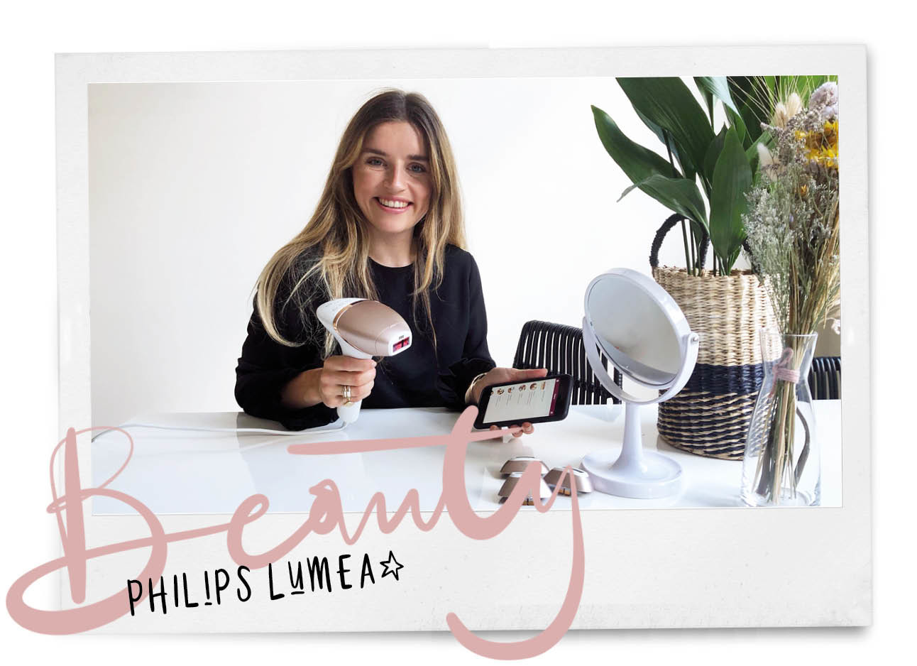 lotte in de keuken met de philips lumea, app en spiegel