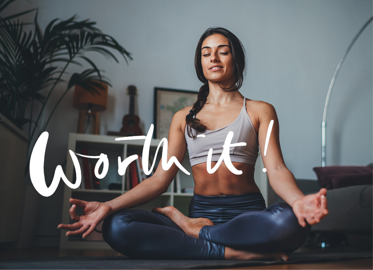 vrouw aan het mediteren