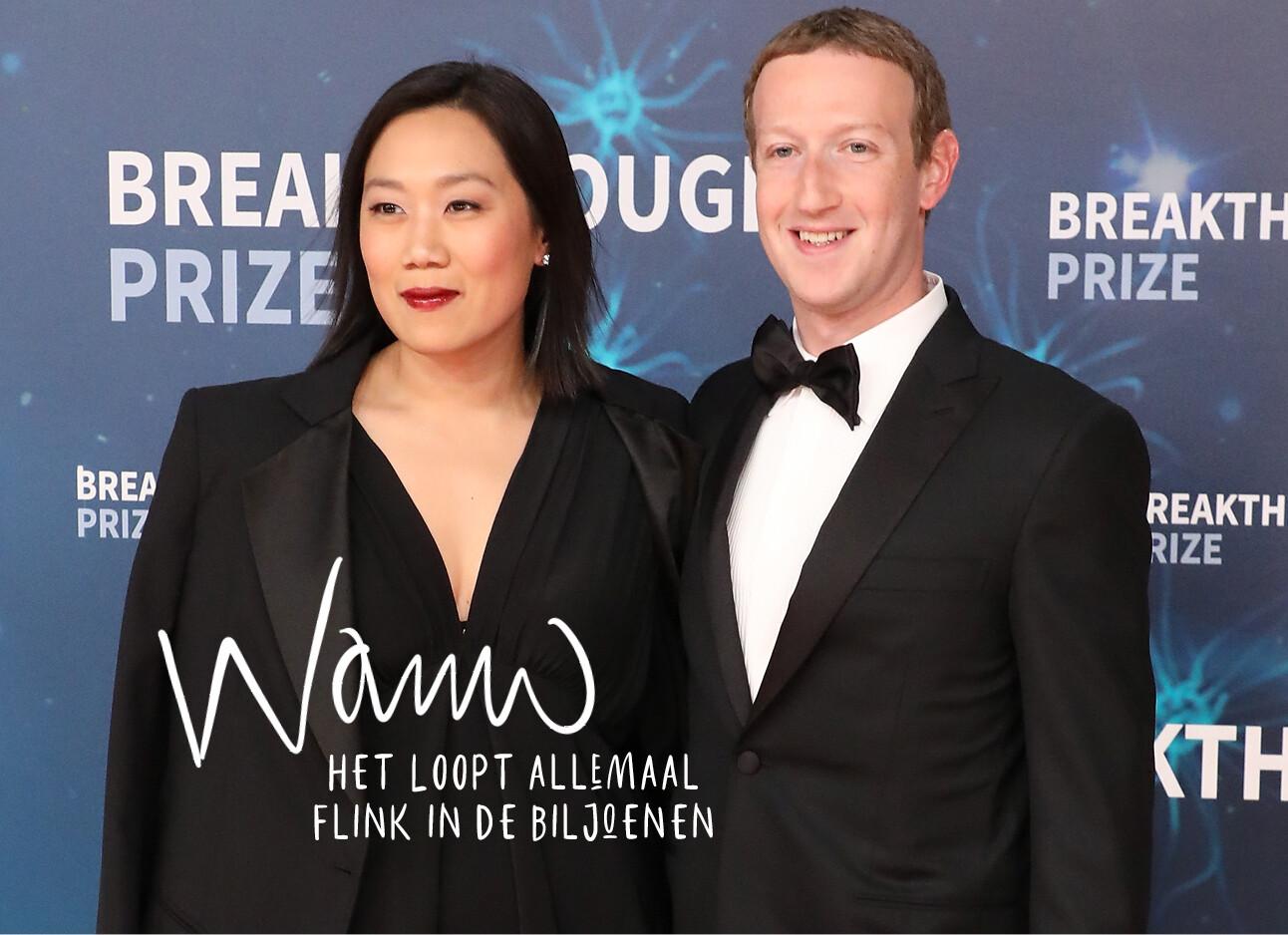 Mark Zuckerberg en zijn vrouw op de rode loper
