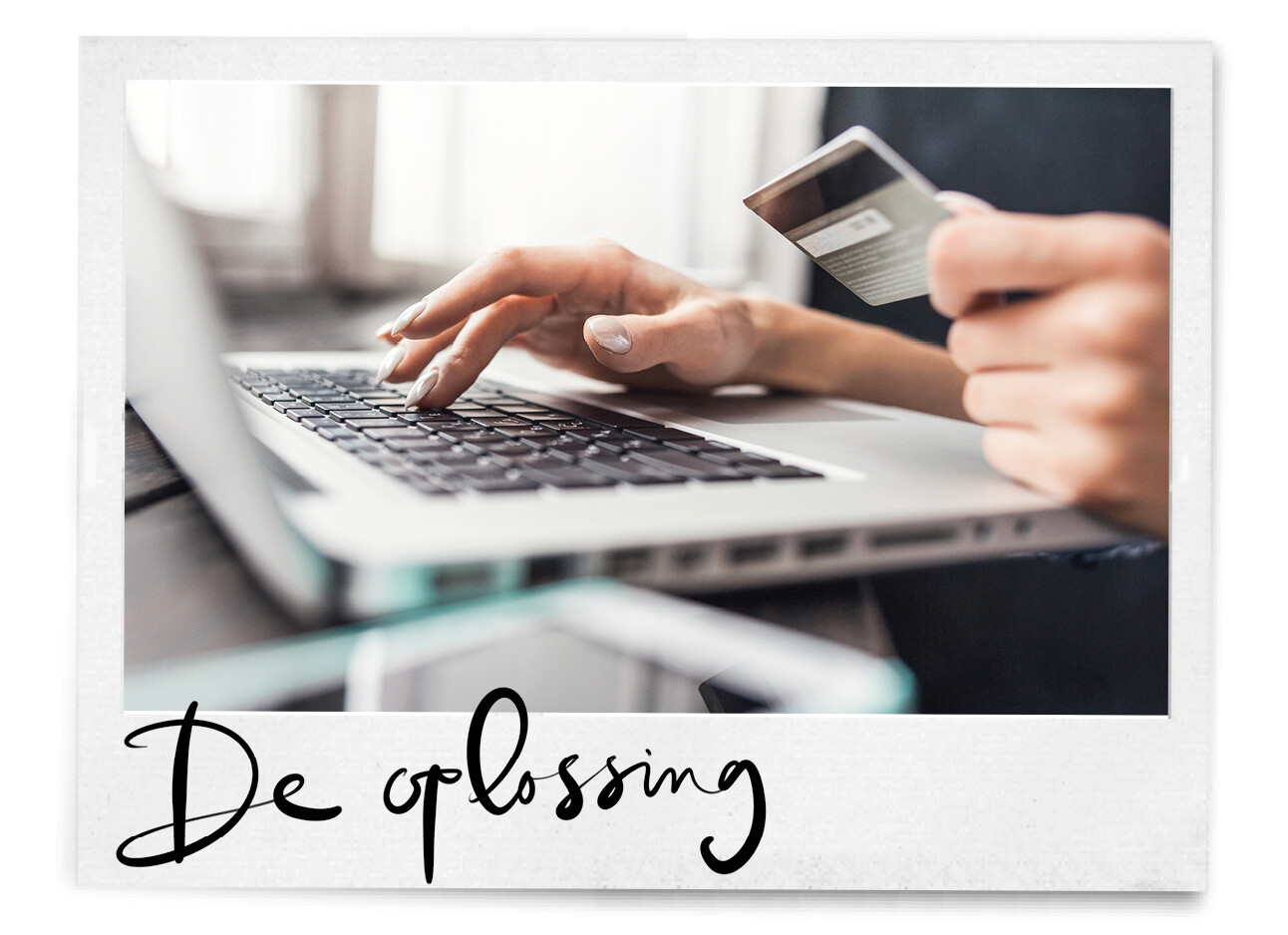 creditcard wordt gebruikt voor online shoppen