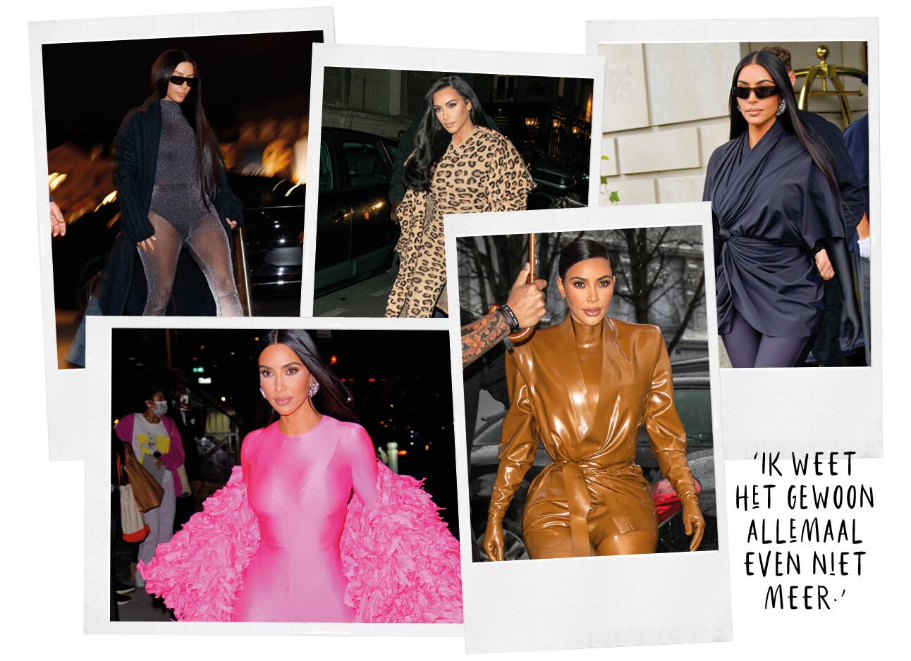 de outfits van Kim Kardashian
