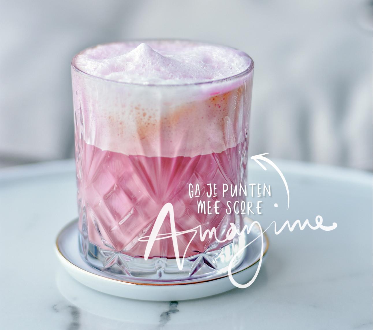 Zo roze en zo lekker: pink cappuccino