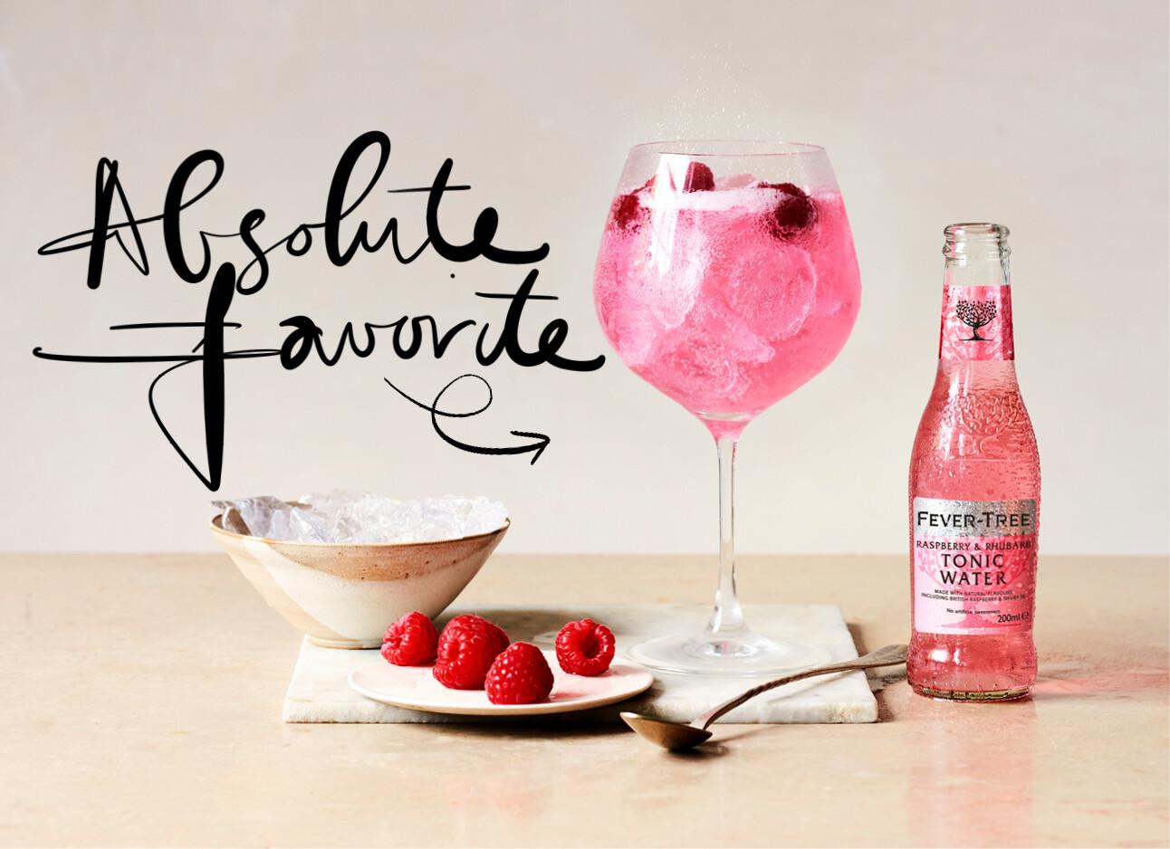 Gin tonic raspberry