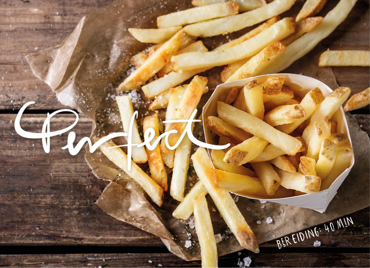 Oven frietjes met schil