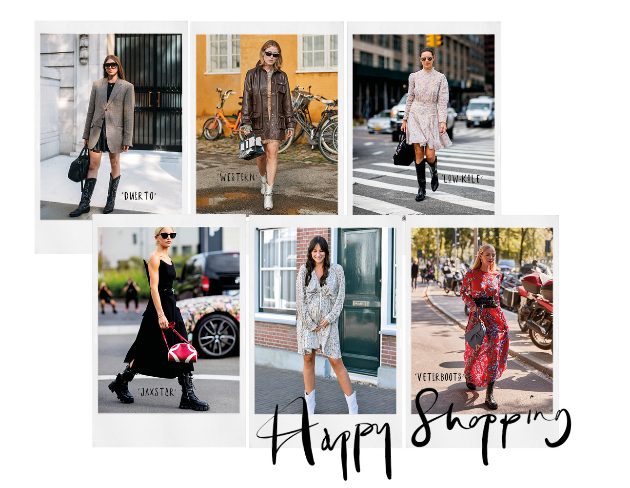 lilian met witte boots aan het streetwear fashion