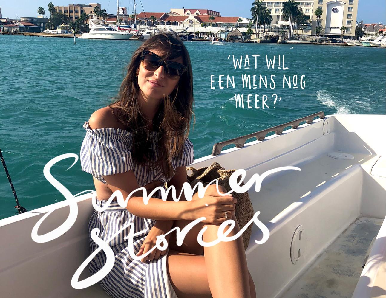lilian in de zomer op een boot