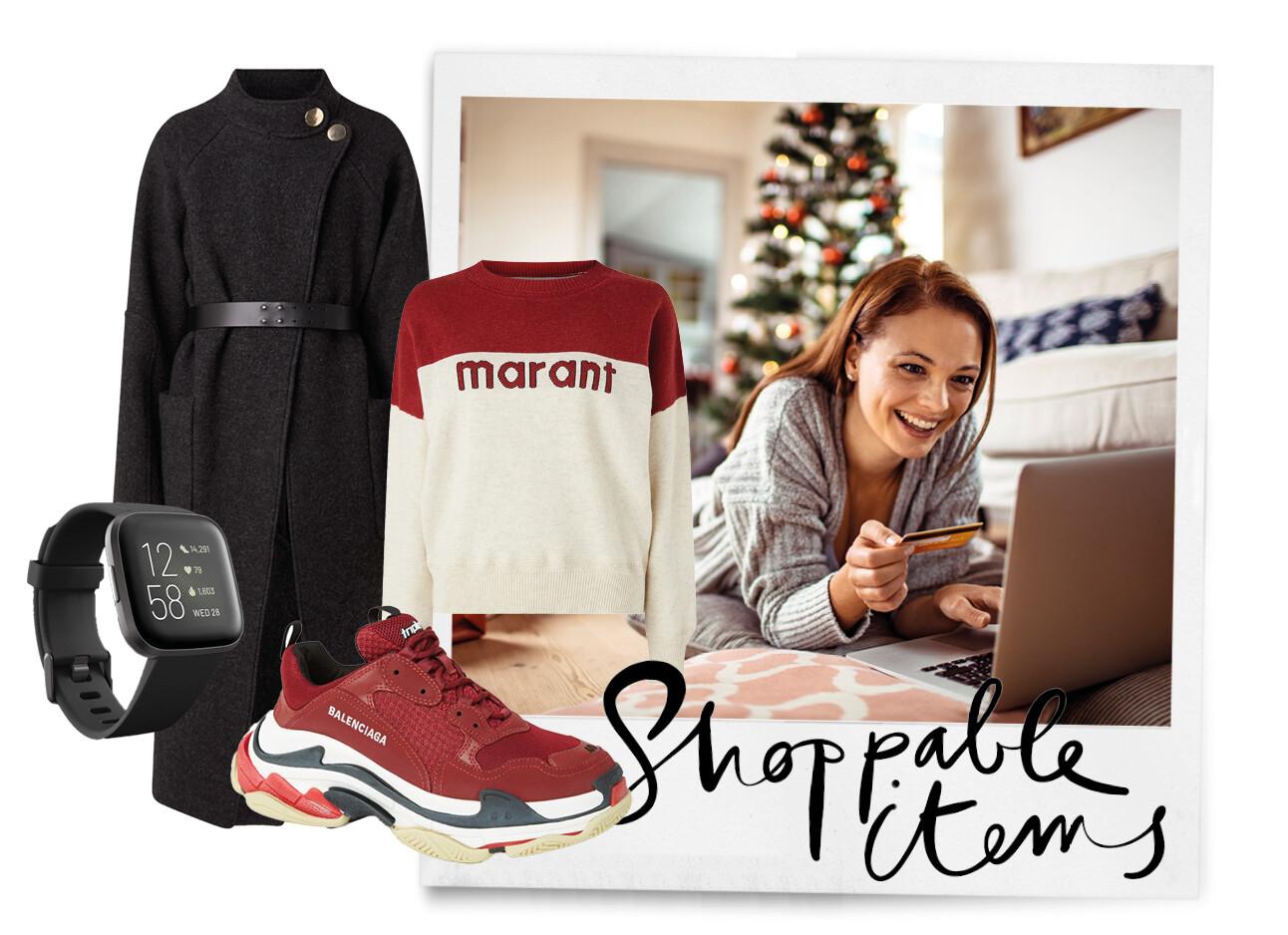 vrouw achter computer winkelen