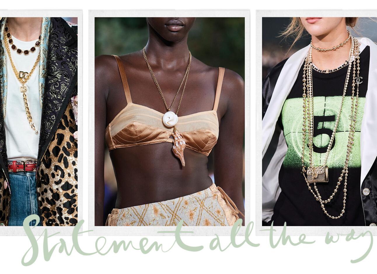 Sieraden trends van de catwalk