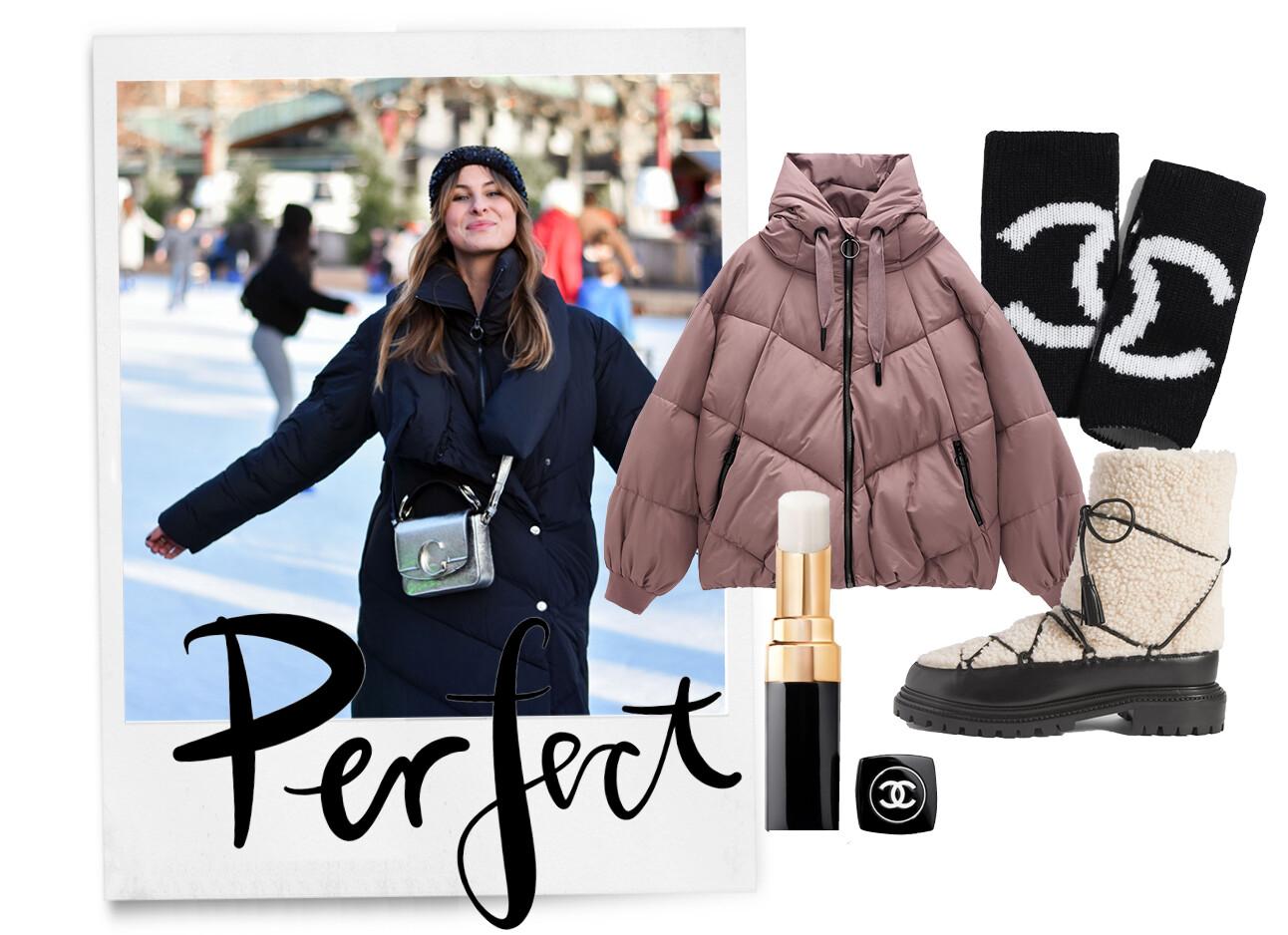 Lilian met sneeuw shopping