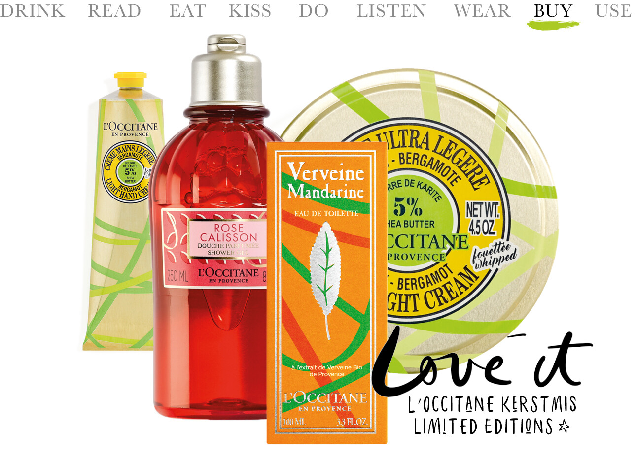 L'occitane kerstmis limited editions artikelen