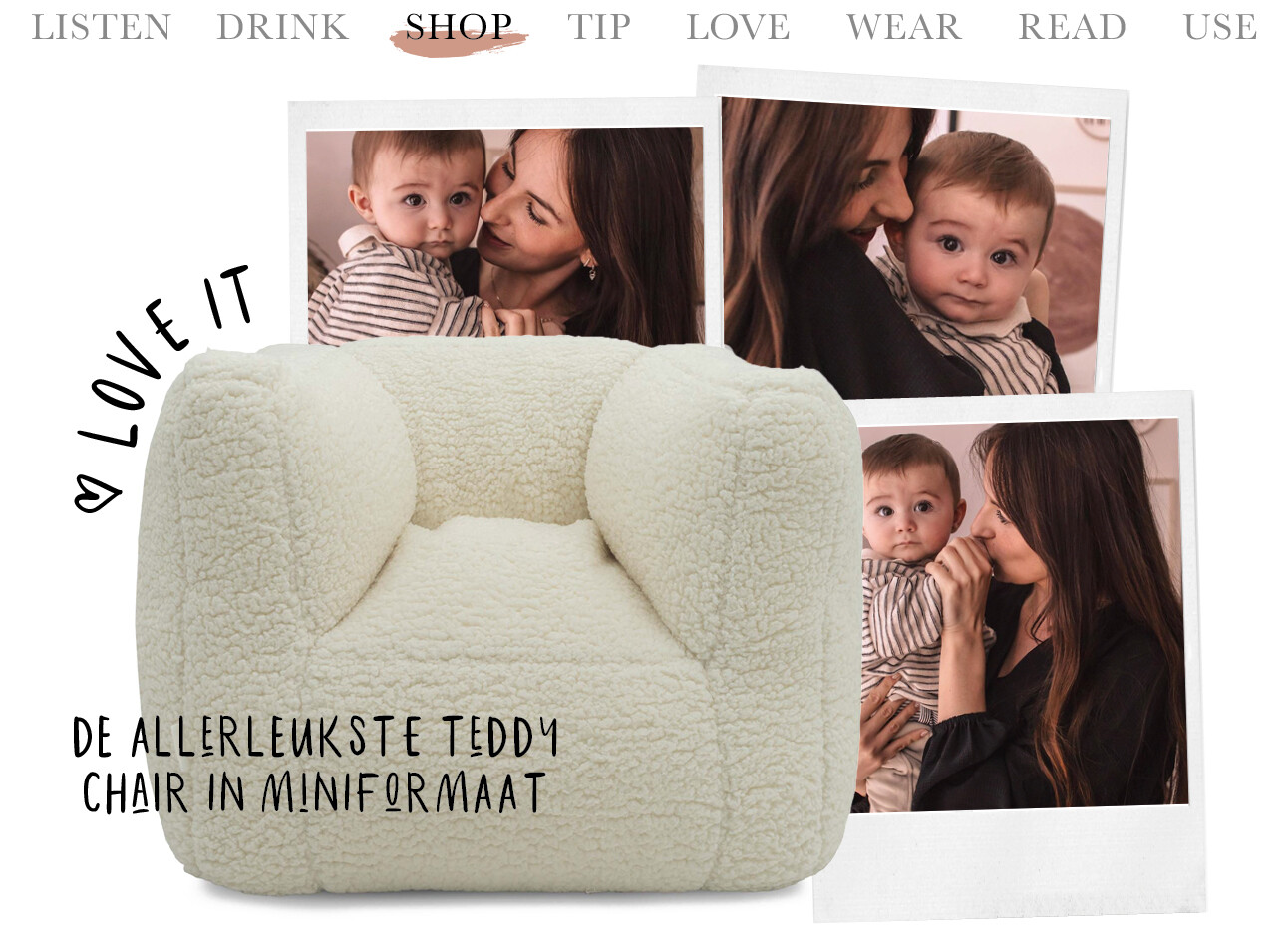 Teddychair mini formaat