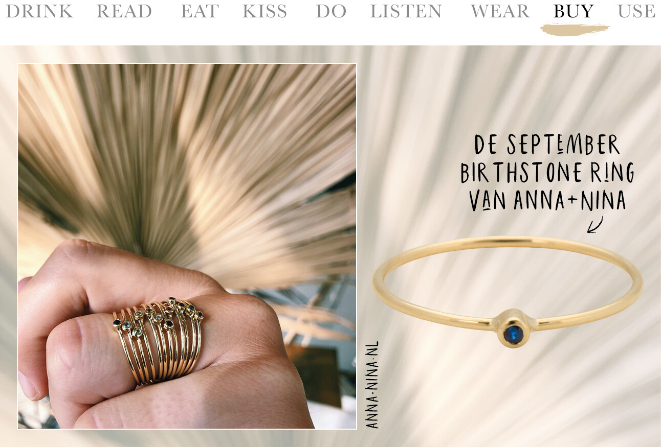 september birtstone ring van anna+nina