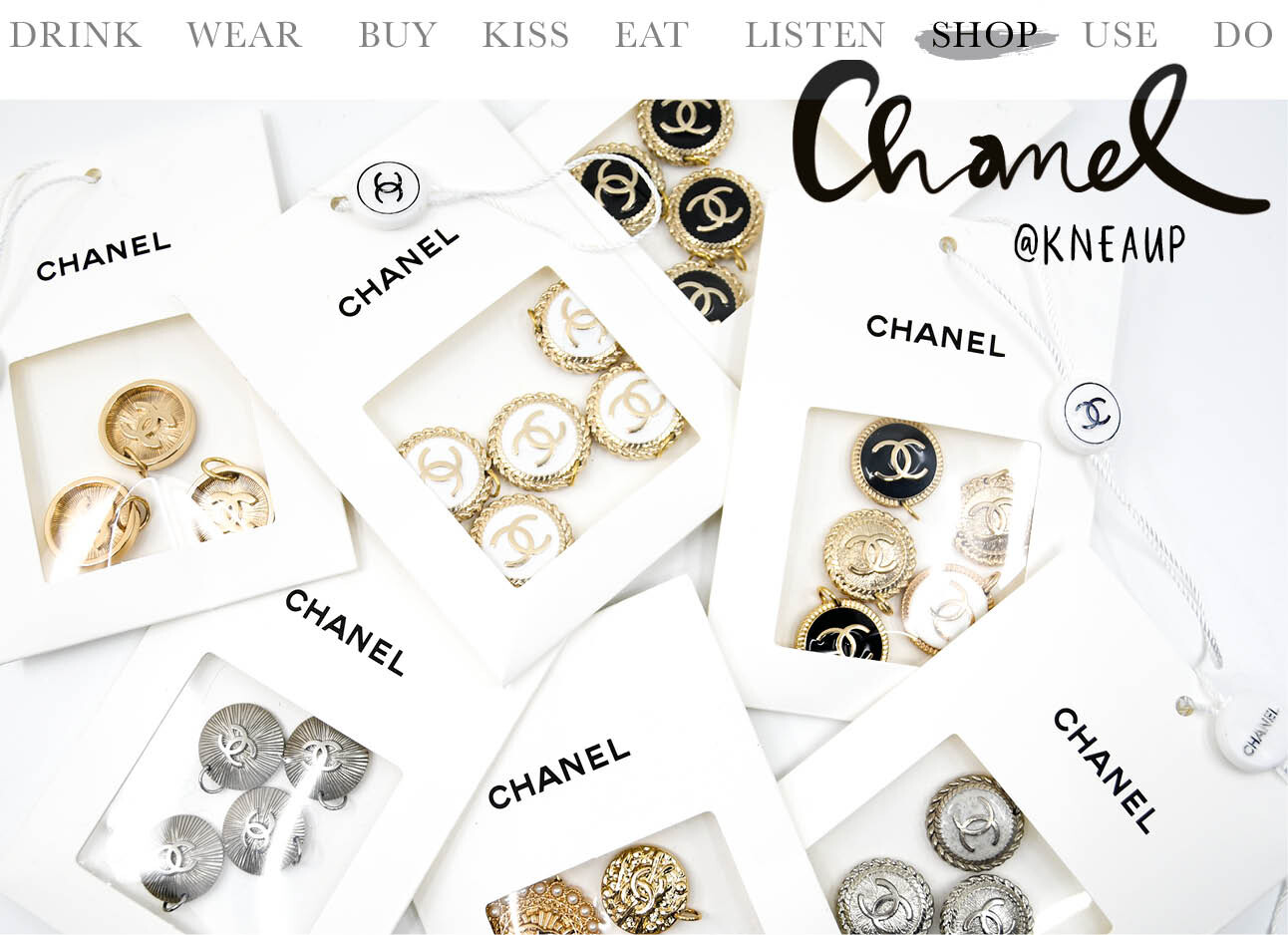 Today we shop vintage Chanel knopen