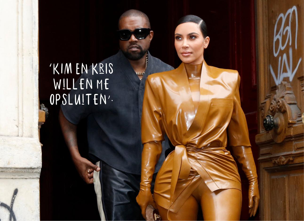 Kanye West en Kim Kardashian-West