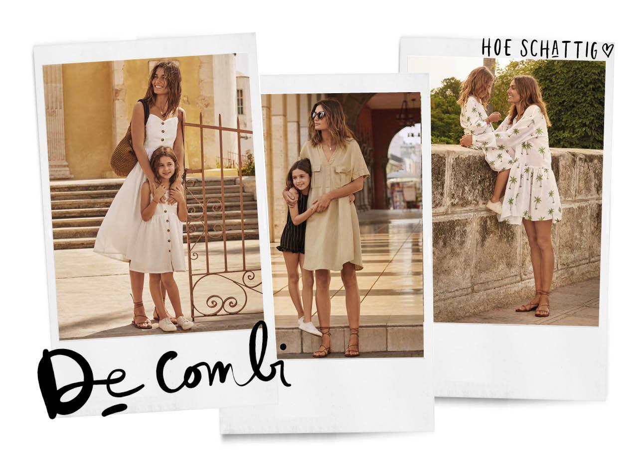 H&M mini collectie mama en kind dochter zomerse jurkjes