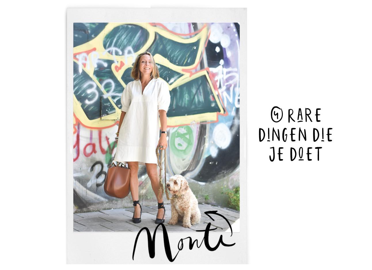 Heimwee naar je hond Monti en may op straat