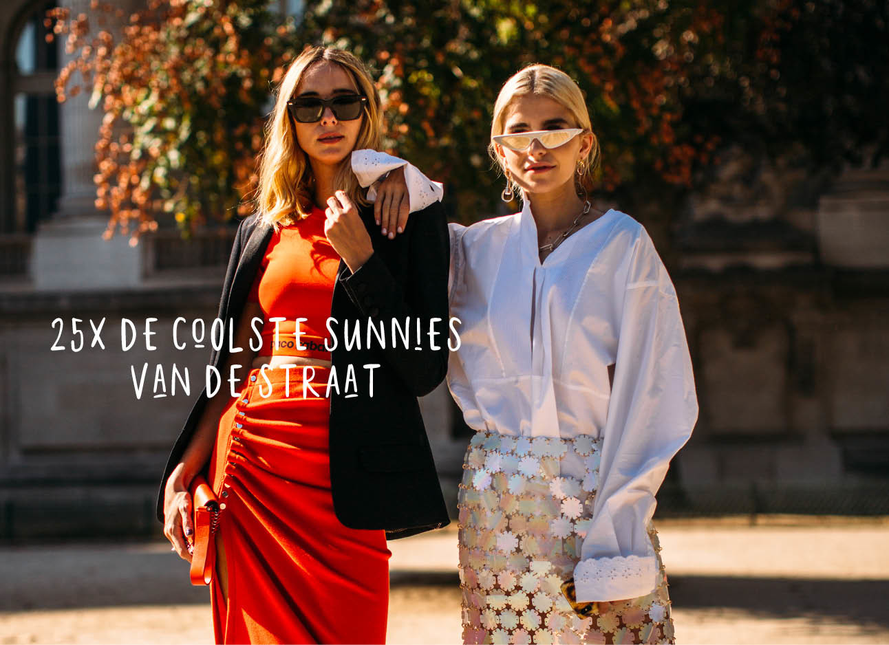 zonnebrillen streetstyle fashion beeld
