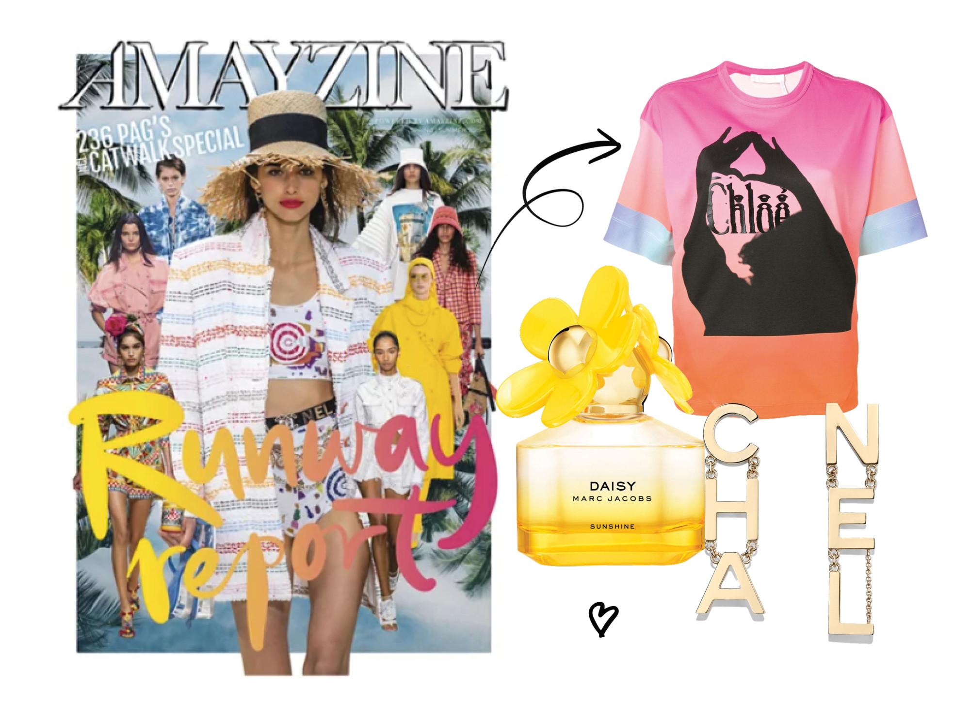 shopping met amayzine magazine chanel oorbellen en chloe shirt en marc jacobs daisy parfum runway report