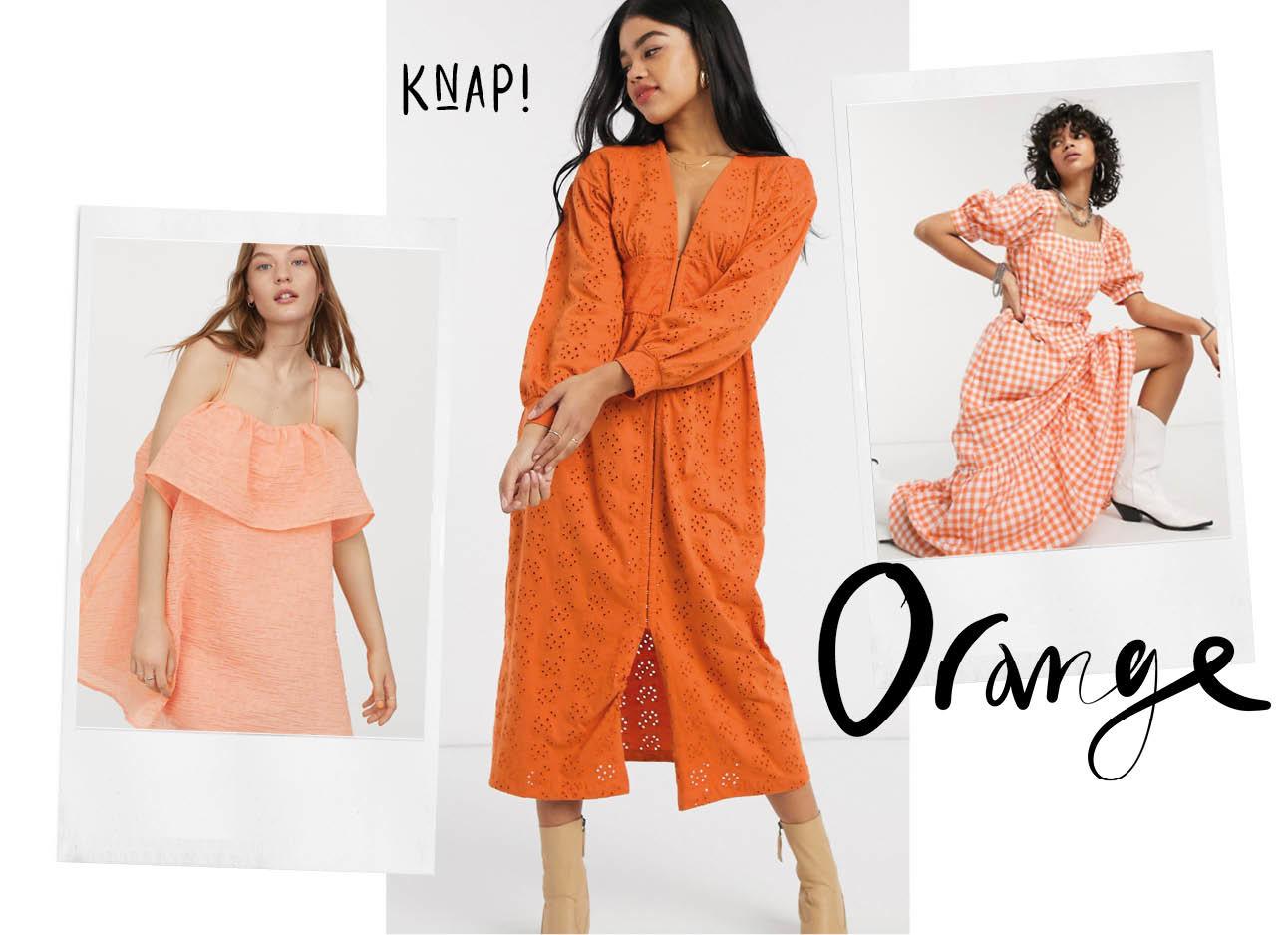 De leukste oranje jurkjes