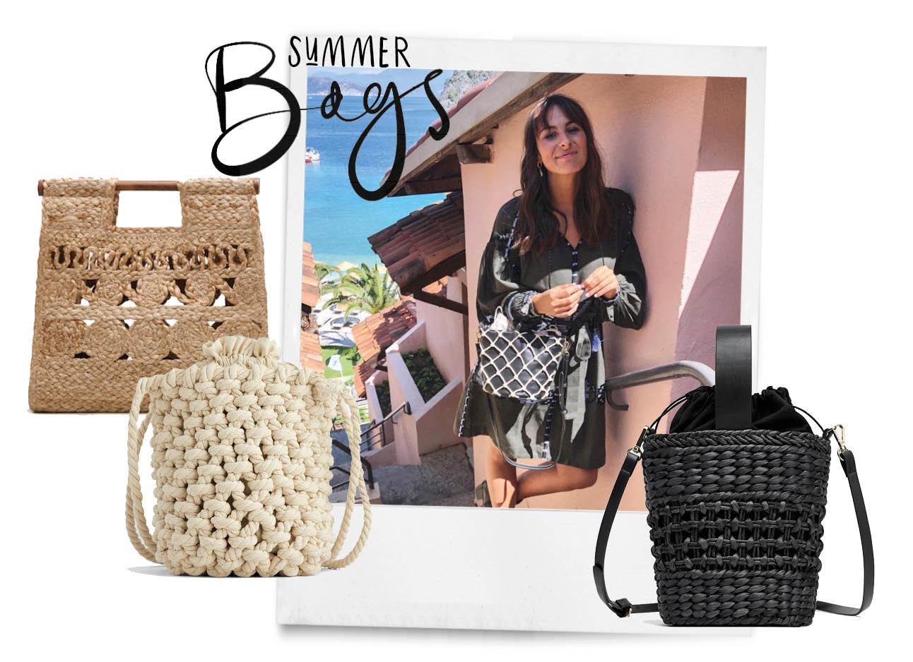 lilian brijl lachend in hillside met zomerse tassen shopping