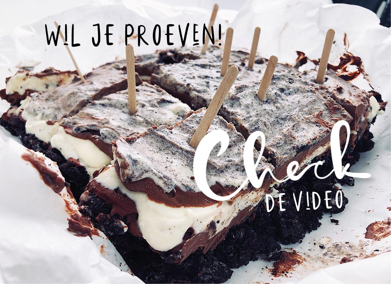 Oreo taart video