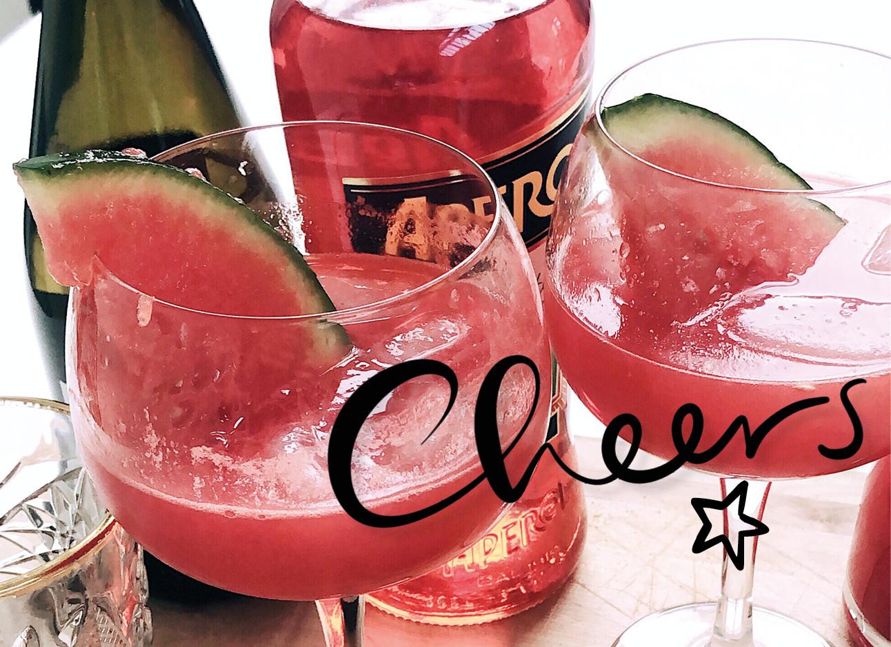 watermeloen cocktails met aperol spritz