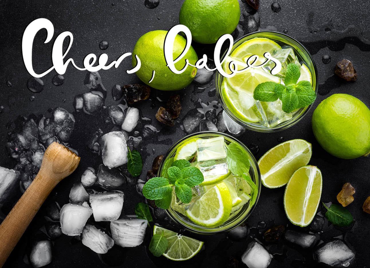 cocktails met limoen frris ijsklonten