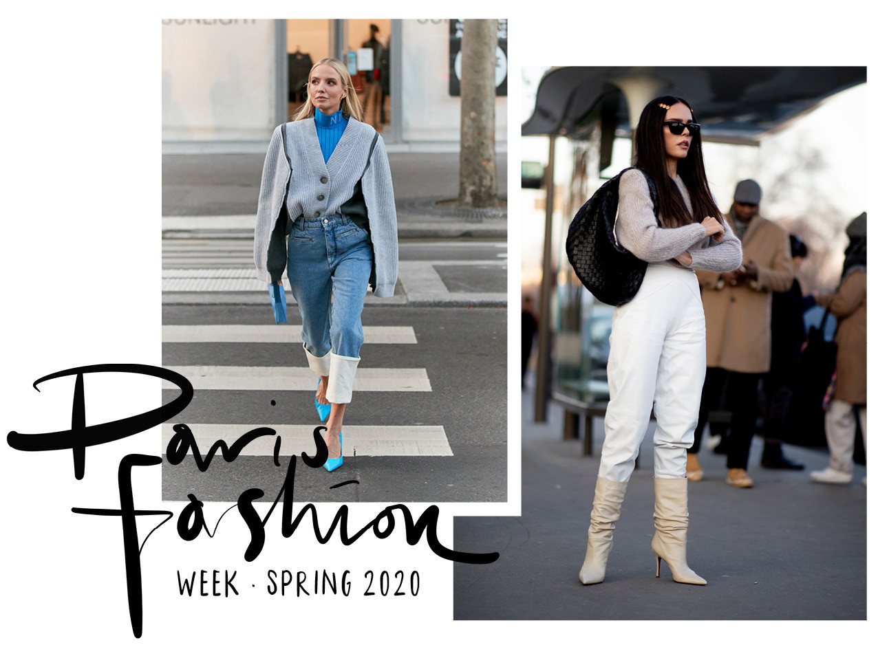 beelden van paris haute couture week en de streetstyle fashion