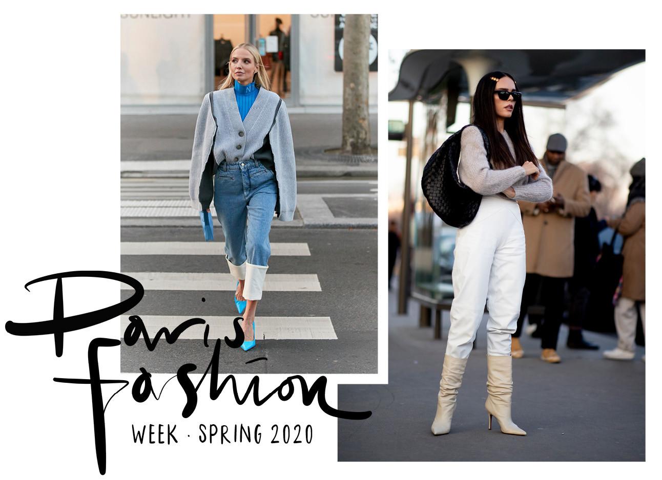 beelden van paris haute couture week en de streetstyle fashion