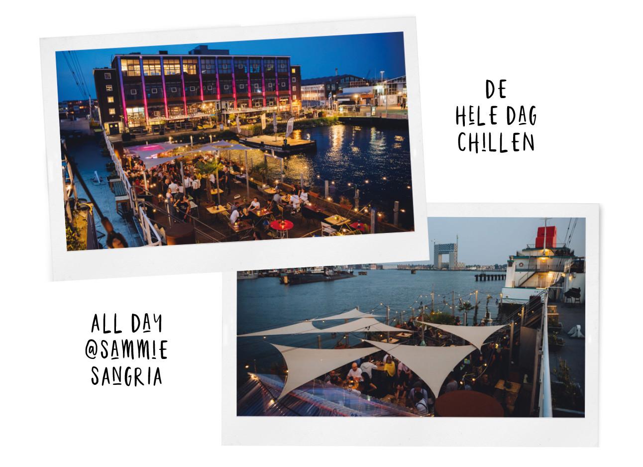 Dit is de nieuwe hotspot van Amsterdam met 3 (!) terrassen Sammie sangria