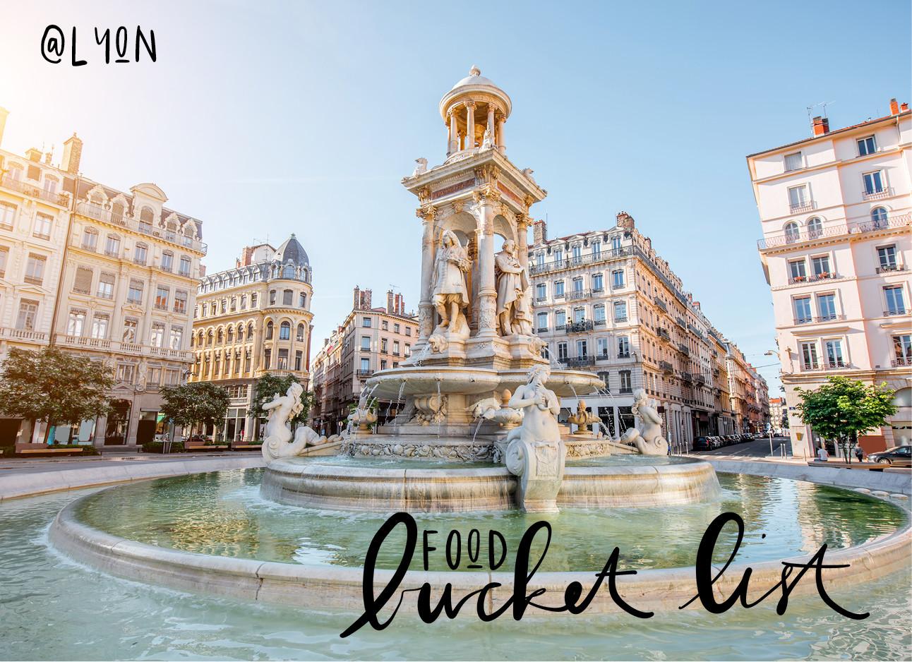 plein in de franse stad lyon